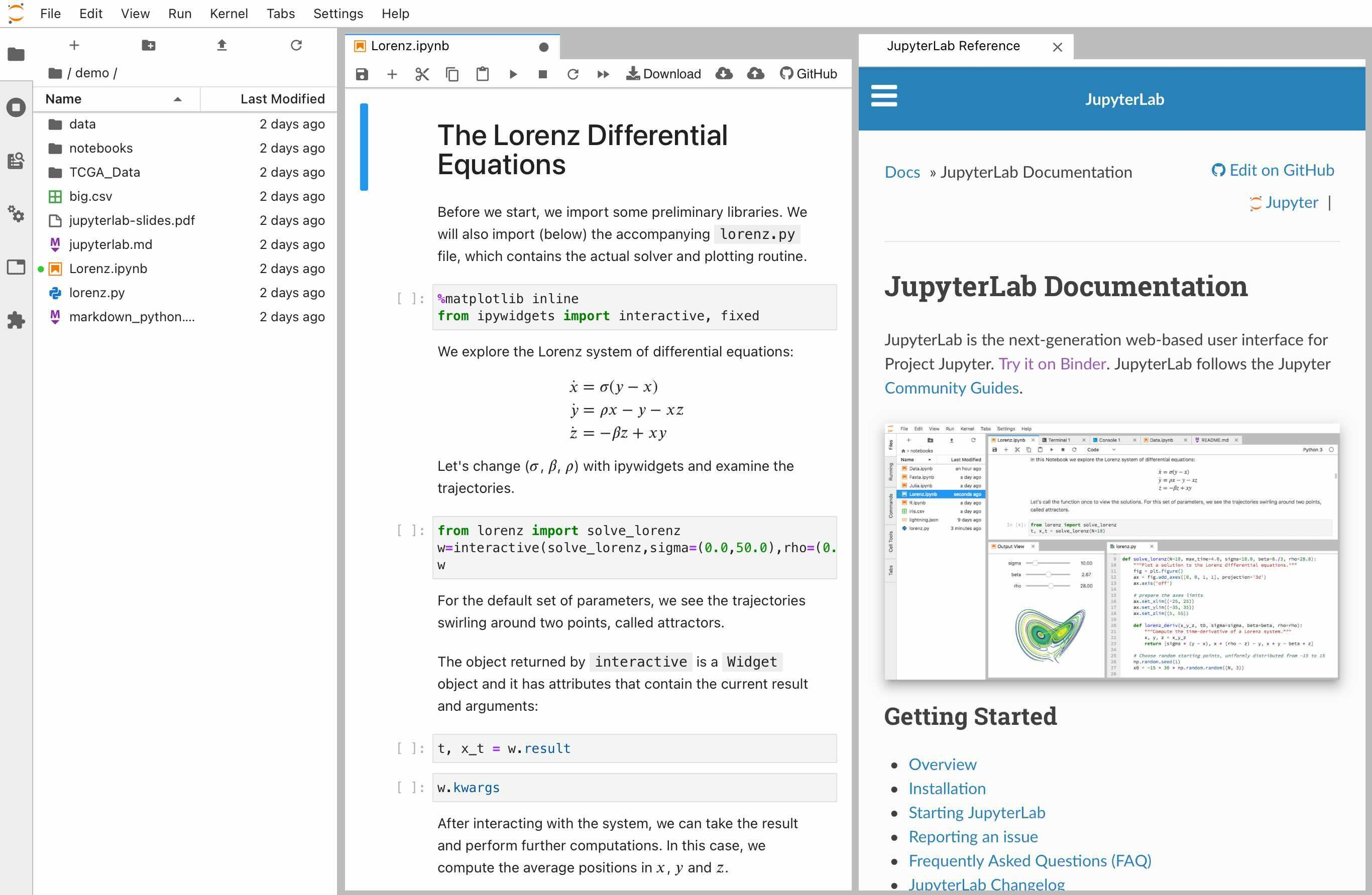 A Jupyter notebook
